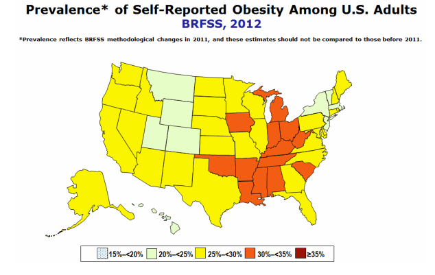 Obesity CDC 2012